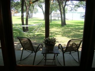 Eagle Mountain Lake house photo - View through large picture window in Great Room