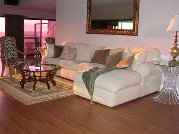 WATCH THE SUNSET FROM LIVING ROOMwith large bar area & fireplace