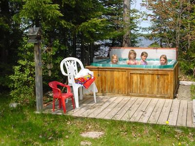 6 person outdoor Hot Tub / Spa at 8 Mile Lodge