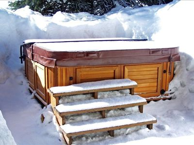 Hot Tub after a hard day on the slopes