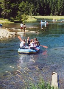 Rafting down the Truckee River