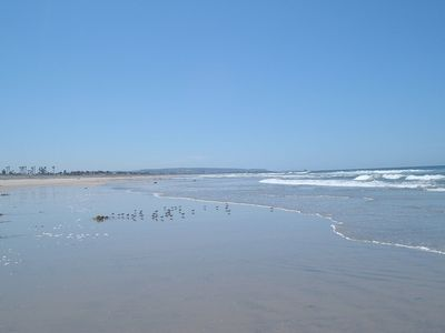 Between the beach and bay on the Silver Strand in the  Coronado Cays.