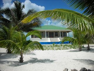 Ambergris Caye house photo - House veiw from beach