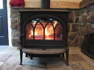 Andover house photo - As pretty as a fireplace but heats the house better!