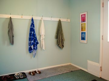 Entry/mudroom is great for storing your outdoor items.