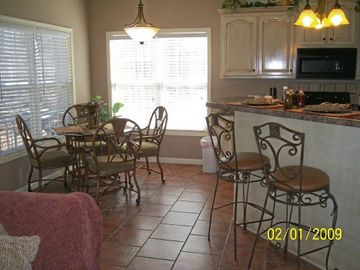 open floor plan, perfect for entertaining family and friends