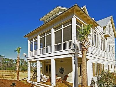 Gorgeous New Home with 4 Decks & Views of Gulf and Sunsets (Rear View)