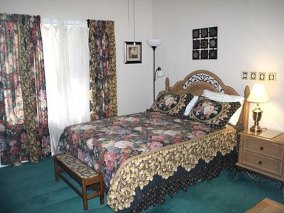 This queen-size bed in richly appointed surroundings ensures many restful nights
