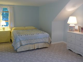 Dennisport house photo - We think of this spacious bedroom as the kid's room, with a queen & 2 twin beds.