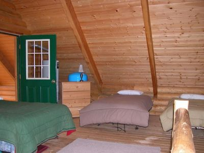 Loft, There are 5 beds and a large covered deck