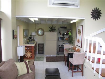 Chocolate Hole studio rental - View of your kitchenette and dining area. Soft neutral furnishings to relax in.