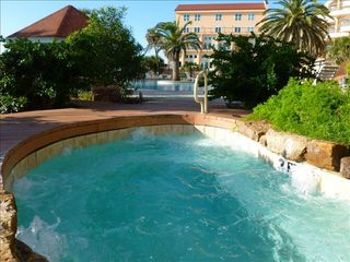 Galveston condo photo - There is room for all in the hot tub - resort pool behind