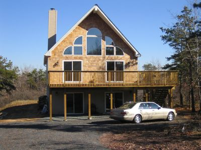 Albrightsville chalet rental - Front view of house