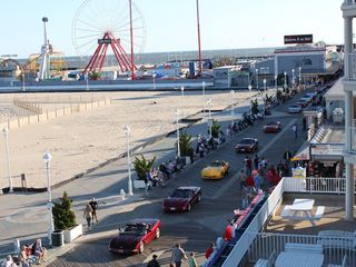 Belmont Towers Ocean City condo photo - View of Car Parade on Boardwalk Cruisin Weekend Great Views!