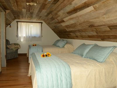 Paonia farmhouse rental - The loft bedroom
