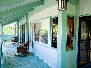 Haleiwa house photo - The wrap around deck.