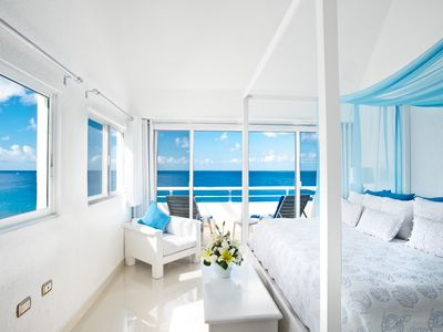 The most romantic oceanfront penthouse condo on the island! Amazing Miramar 401