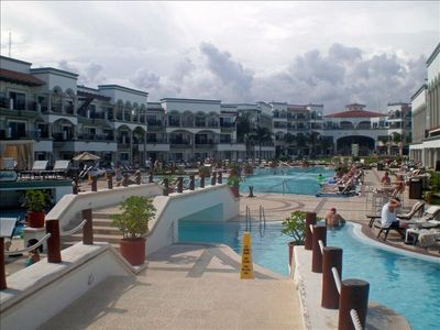 View of main pool area Royal Playa Del Carmen