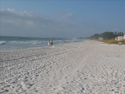 Bradenton Beach condo rental - Walking in the sand.