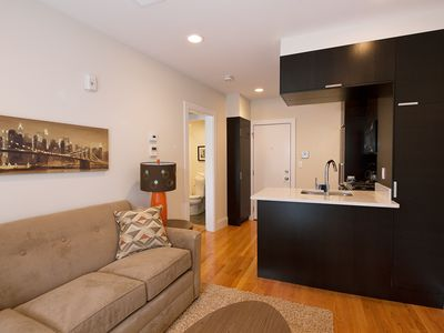 Living Room and Kitchen - Boston Rental, South End