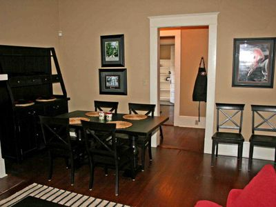 Athens house rental - Quaint dining area for a nice quiet meal.