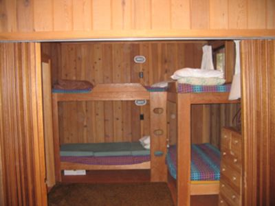 The bunk room left side, sleeps for singles.