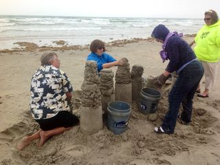Enjoy building sand castels on the beach.