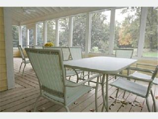 Union Pier cottage photo - Large screened porch, seating for 10.
