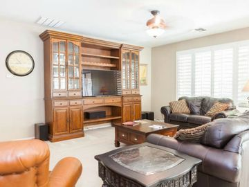 Chandler house rental - High definition TV, surround sound, and leather sitting surfaces.