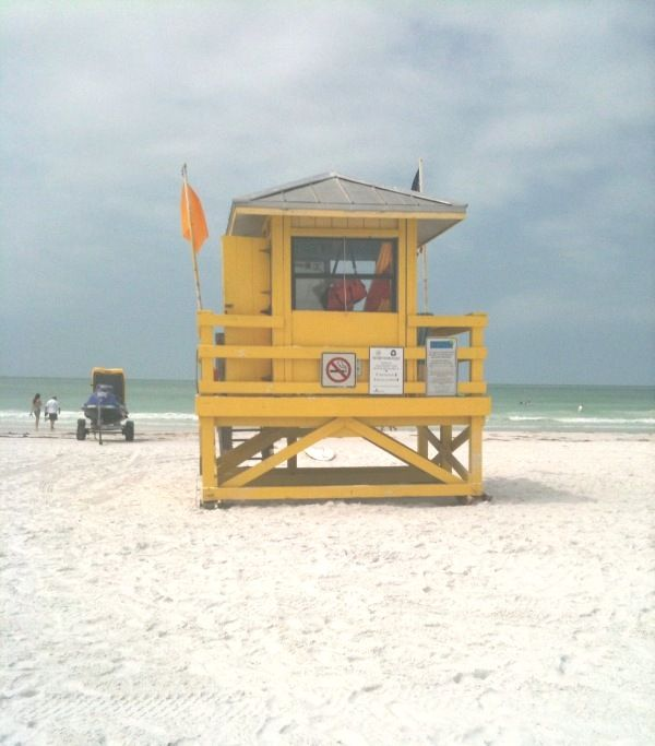 Life Guard Station on Siesta Beach