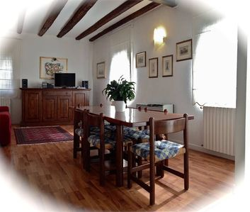 A newly restored apartment, both inside and out, furnished in good taste and extremely comfortable.