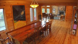 10' Dining Room Table crafted from 160 year old ba - Nashville house vacation rental photo