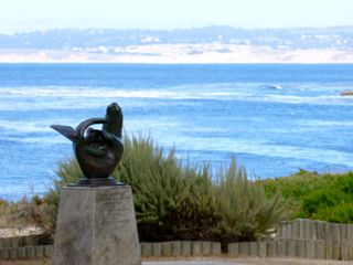Pacific Grove condo photo - Sea Otter sculpture right across the street.