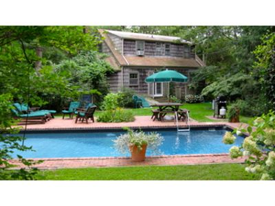 East Hampton cottage rental - house and pool