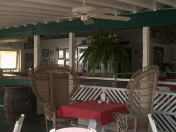 At the beach is Duggan's restaurant a perfect Caribbean dining experience