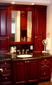 All the cabinetry & millwork was custom designed