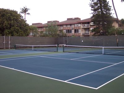 Wailea condo rental - tennis courts