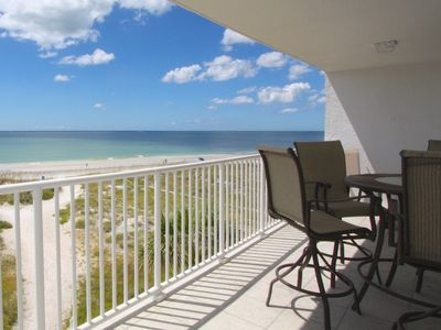 Large, private, beach front balcony on the third floor