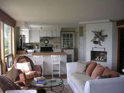 Garden Level Unit: Large, open kitchen with all stainless appliances.