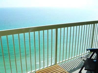 Breathtaking views from the gulf front balcony