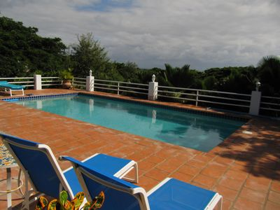 Vieques Island house rental - Pool with a View