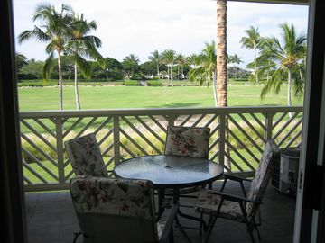 Overlooking the 9th Fairway from our Lanai