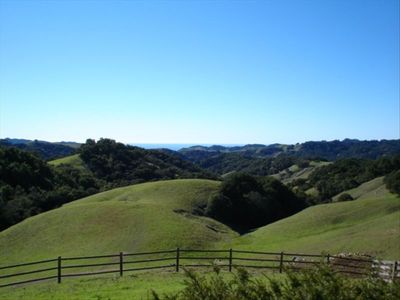 Beautiful Ocean View and Rolling Hills From the Front Deck