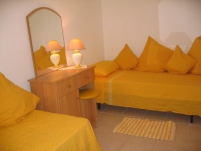 Yellow Spare Bedroom