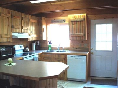 Blue Knotty Pine Throughout the Chalet Adds to that Country Feeling.