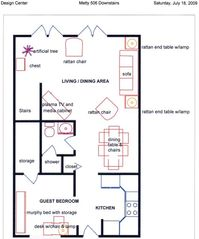 Key West townhome photo - First Floor layout with Furniture plan