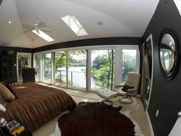 Master bedroom wake up to sunrise
