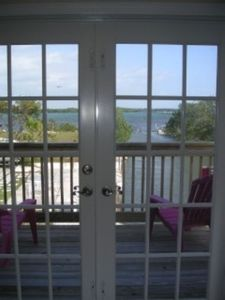 Big Pine Key house rental - View from pillow...master/deck, bed faces the open water