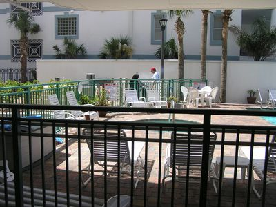 St Pete Beach condo rental - Grills for guests next to the pool