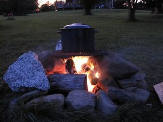 Trenton cottage photo - Permanent fire pit by the beach